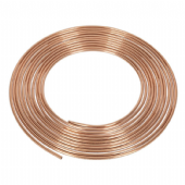"CBP002 Brake Pipe Copper Tubing 22 Gauge 3/16"" x 25ft BS EN 12449 C106"